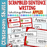 Scrambled Sentences Writing About Apples