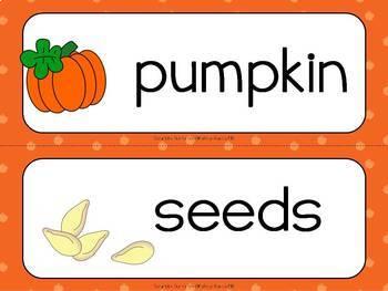 Scrambled Sentences Writing About Pumpkins