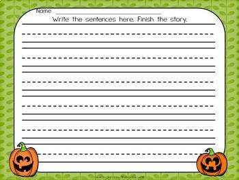 Scrambled Sentences Writing About Pumpkins