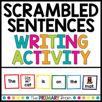 Scrambled Sentences Writing Formation Activity