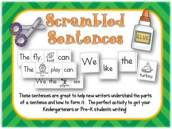 Scrambled Sentences-Writing Help for Young Learners