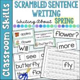 Scrambled Sentences Writing Spring Stories