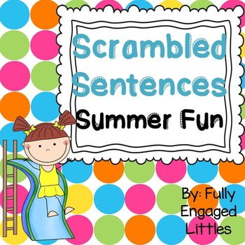 Scrambled Sentences Summer Fun