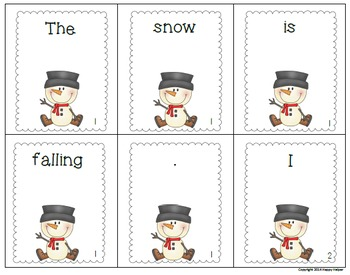 Scrambled Sentences Winter