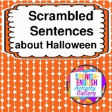 Scrambled Sentences about Halloween
