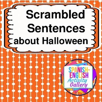 Scrambled Sentences about Halloween