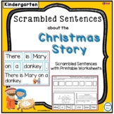 Scrambled Sentences about the Christmas Story for Kindergarten