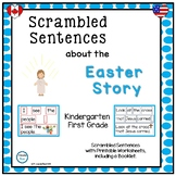 Scrambled Sentences about the Easter Story for Kindergarten and First Grade