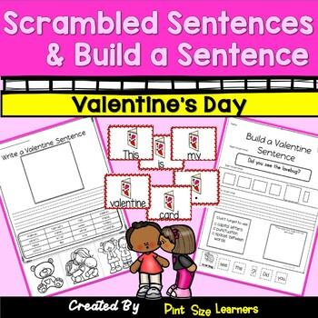 Scrambled Sentences and Build A Sentence Valentine