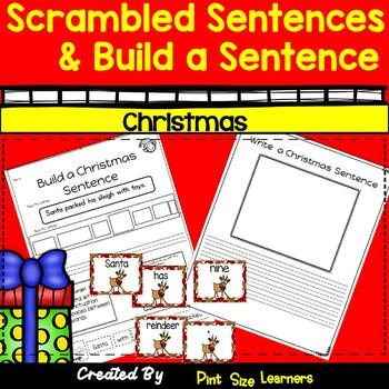 Scrambled Sentences and Build-a-Sentence Christmas