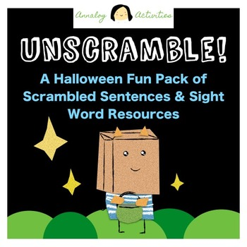 Scrambled Sentences and Sight Words: Printable Halloween Activities