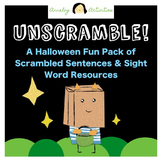 Scrambled Sentences and Sight Words: Printable Halloween A