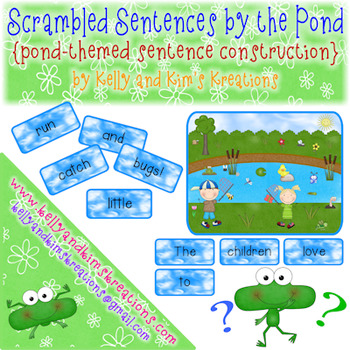 Scrambled Sentences by the Pond {pond-themed sentence construction}