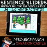 Scrambled Sentences for Google Slides™: Winter Activities