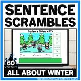 Scrambled Sentences for Google Slides™: Winter Animals