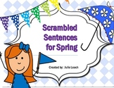 Scrambled Sentences for Spring Daily 5 Word Work