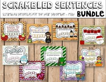 Scrambled Sentences for a Year {Bundle}