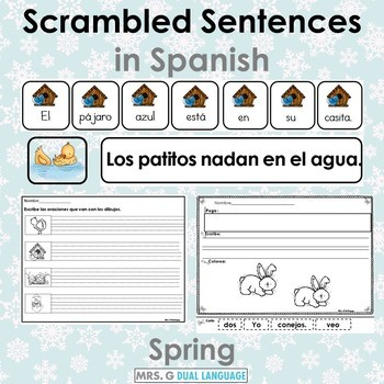 Scrambled Sentences in Spanish BUNDLE