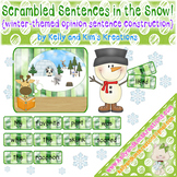 Scrambled Sentences in the Snow! {winter-themed opinion se