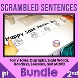 Scrambled Sentences or Build a Sentence Activities and Cen