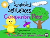 Scrambled Sentences…Using Fry's Phrases, task cards and QR codes~Companion Piece