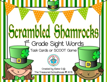 1st Grade Sight Word Task Cards & SCOOT Game - St. Patrick's Day