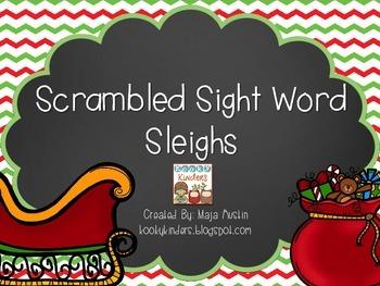 Scrambled Sight Word Sleighs