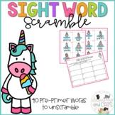 Scrambled Sight Words: Pre-Primer