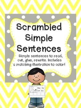 Scrambled Simple Sentences