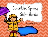 Scrambled Spring Sight Word: Literacy Center or Scavenger Hunt