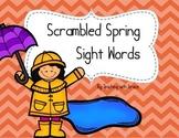 Scrambled Spring Sight Word: Literacy Center or Scavenger Hunt
