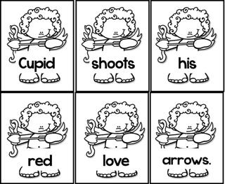Scrambled Valentines Sentences
