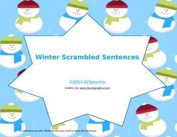 Scrambled Winter Sentences