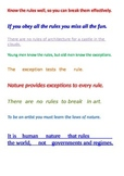 Scrambled quotes about RULES