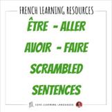French Scrambled Sentences Exercise:  ALLER, ÊTRE, AVOIR, FAIRE