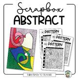 Scrap Box Abstract Art Lesson
