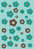 Scrap Paper | Brown Flowers