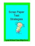 Scrap Paper Test Taking Strategies - Polygons Bundle