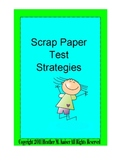 Scrap Paper Test Taking Strategies - Polygons Bundle