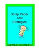 Scrap Paper Test Taking Strategies Polygons Rule of 9's