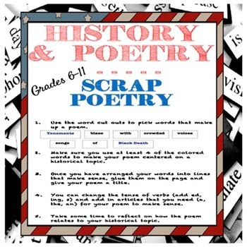 Scrap Poetry:  Learning Historical Vocabulary With Poetry Grades 6-12