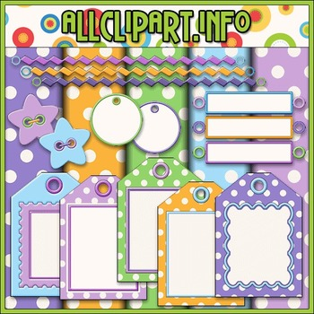 Scrap Stuff 1 Commercial Use Clip Art Kit - Alice Smith Clip Art