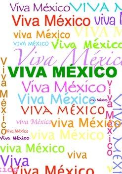 Scrap paper mexican colors