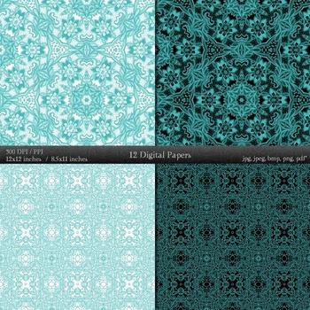 Scrapbook  12 X 12 + 8.5 X 11 Style Piecing Henna Template Sheet Scrap Booking