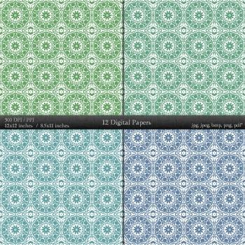 Scrapbook 12x12 + 8.5x11 Inch Template Piecing Retro Scrap Booking Pack Art A4