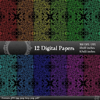 Scrapbook A4 Art Layout Premade Set Printable Cover Abstract Pack Pattern Collag