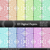 Scrapbook Book Embellishment Template Texture A4 Sheet Ind