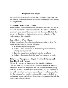 Scrapbook Project - Create a scrapbook book about any novel