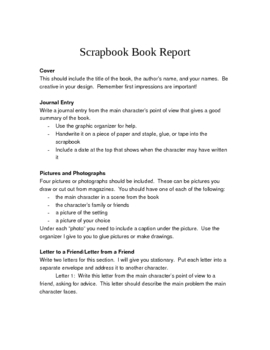 Scrapbook Book Report