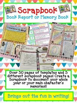 Scrapbook Book Report or Memory Book-Open House or End of the Year Project